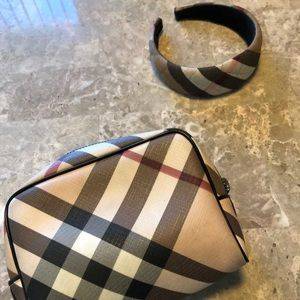 Burberry Bags - Burberry Clutch Bag & Head Band